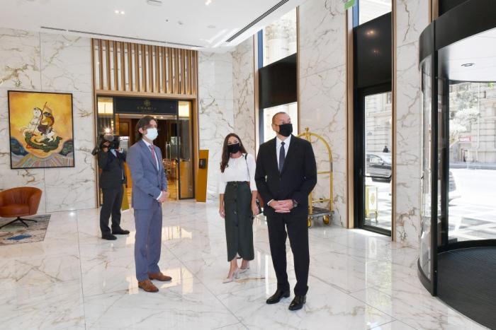President Aliyev attends opening ceremony of hotel in Baku - PHOTOS