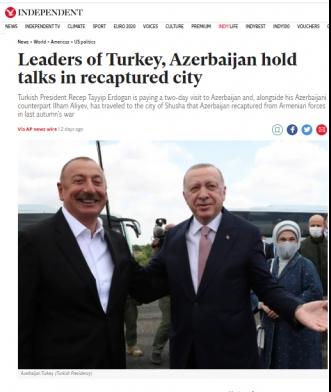 """""""The Independent"""" Şuşa Bəyannaməsindən yazdı"""