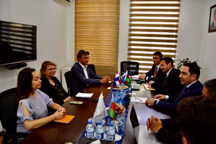المدير العام لميناء باكو التجاري البحري الدولي يلتقي السفيرة الندرلاندية