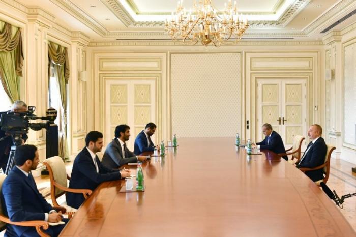 Azerbaijani president receives UAE minister of economy