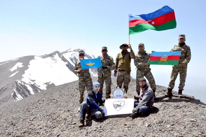 "Azerbaijani servicemen's expedition to ""Zafar"" peak ends"