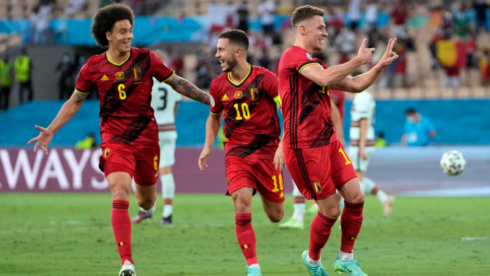 Belgium upsets champions Portugal in thrilling Euro 2020 match