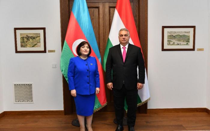 Sahiba Gafarova meets with Hungarian PM