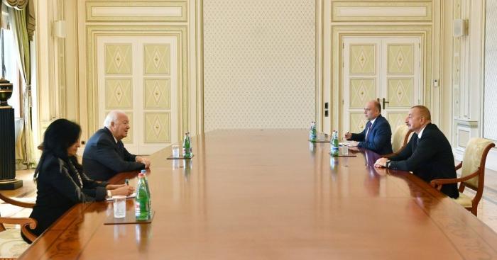 إلهام علييف يلتقي بالممثل الأعلى لتحالف الحضارات التابع للأمم المتحدة