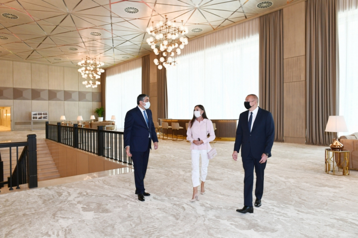 President Ilham Aliyev views conditions at Gulustan Palace after renovation - PHOTO