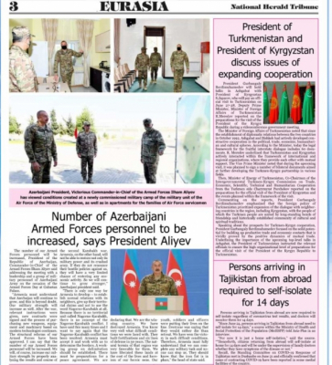 Pakistani newspaper highlights President Aliyev's remarks on Azerbaijani Armed Forces