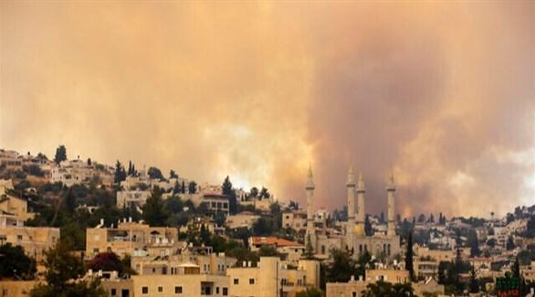 اندلاع حريقين هائلين في أحراش القدس