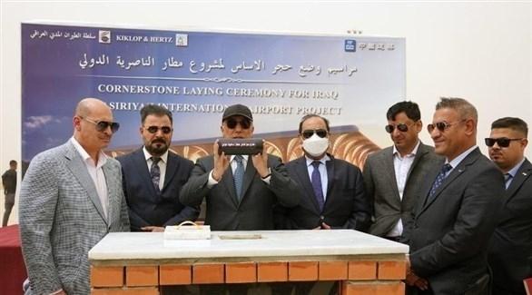 الكاظمي يضع حجر الأساس لمطار الناصرية الدولي