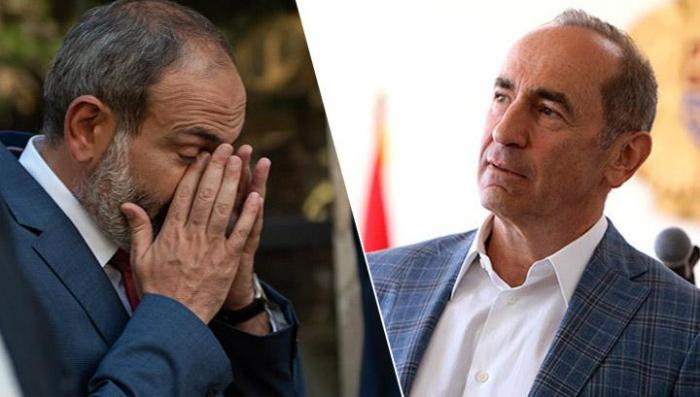 Koçaryan Paşinyanı təhqir etdi -   VİDEO
