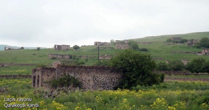 لقطات من قرية قاراكيجدي ، منطقة لاتشين -  فيديو