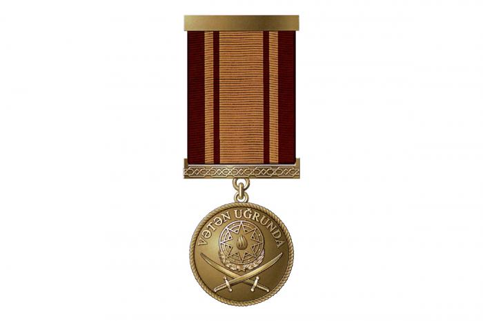 """Bir sıra hərbçilərə """"Vətən uğrunda"""" medalı verildi"""