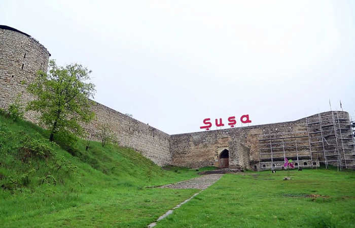 Musikalische Komposition in der aserbaidschanischen Stadt Schuscha- FOTOS-VIDEO
