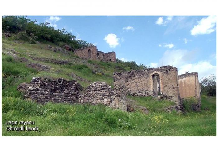 لقطات من قرية احمدلي ، منطقة لاتشين -  فيديو