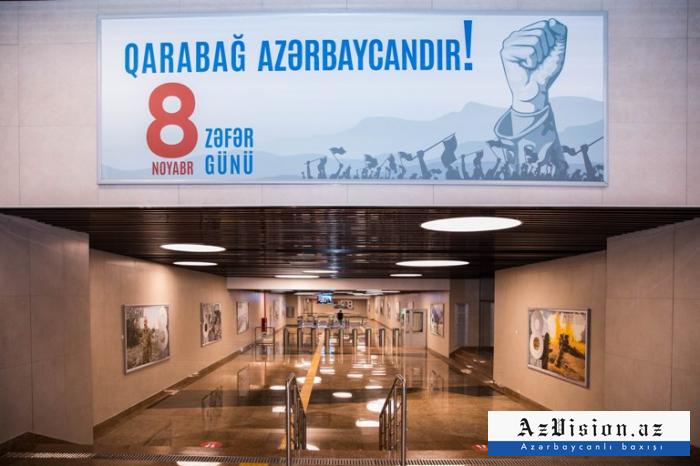 """""""8 Noyabr"""" stansiyası ilə daşınan sərnişinlərin sayı açıqlandı"""