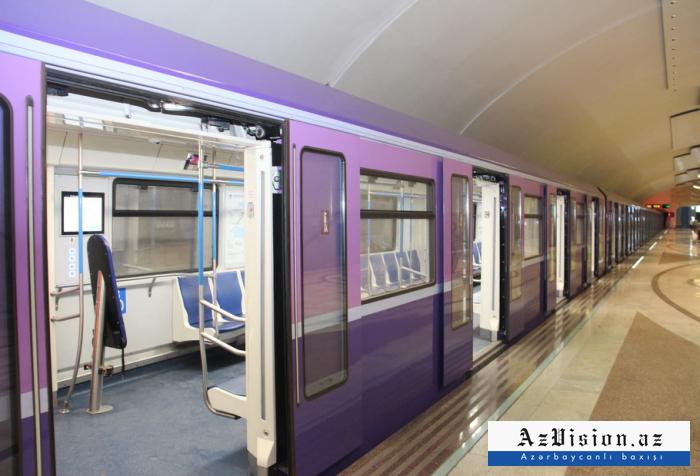 Bakıya 4 yeni metro qatarı gətiriləcək