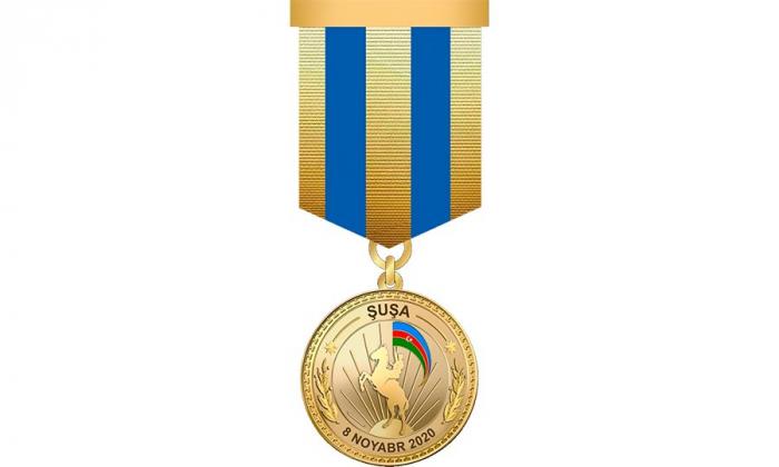 Şuşada döyüşənlərə medal verildi
