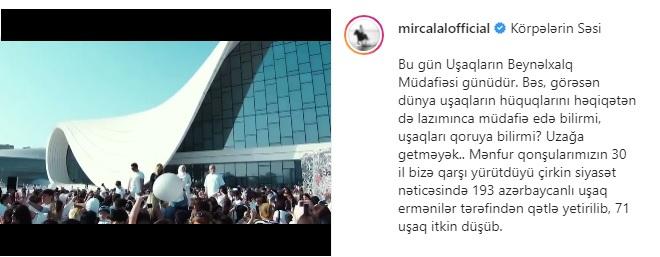 """""""Bu gün Azərbaycanda bayrağı ilə fəxr edən uşaqlar böyüyürlər"""" –    Cəlal Qurbanov"""