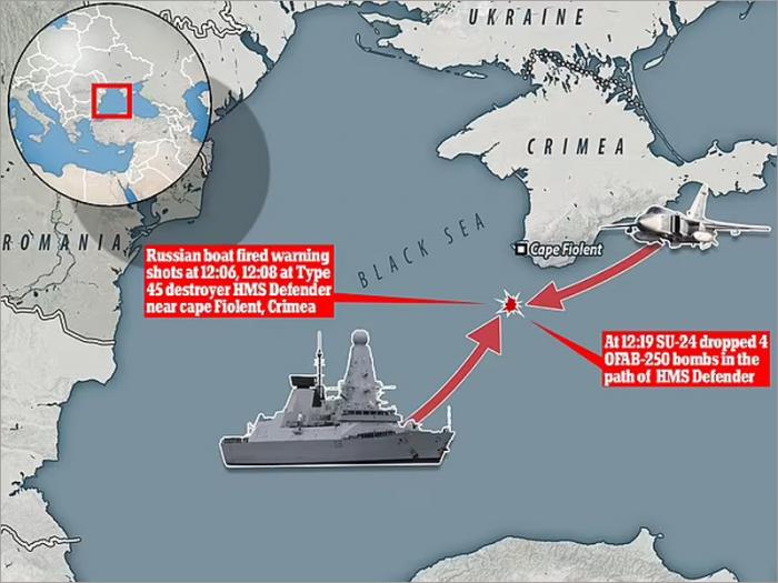 İngilis gəmisi Qara dənizdən belə uzaqlaşdırıldı- VİDEO