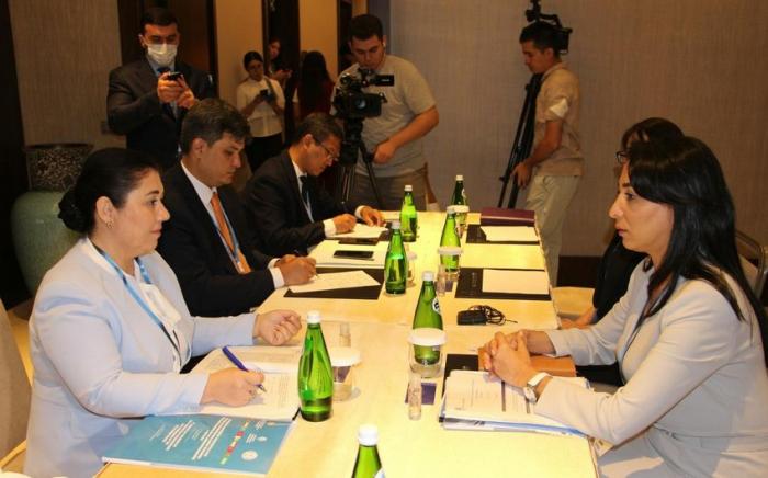 اجتماع بين المفوضتين الأذربيجانية والأزبكية