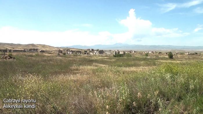 Video   footage of the Alikeykhali village of the Jabrayil region