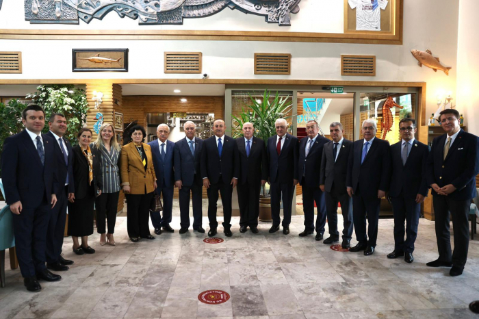 Çavuşoğlu azərbaycanlı deputatlarla görüşdü
