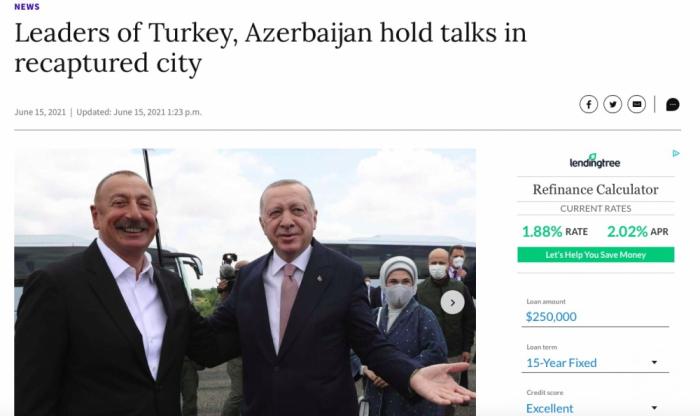 """My Journal Courier:   """"Los líderes turco y azerbaiyano mantienen conversaciones en la ciudad liberada de Shushá"""""""