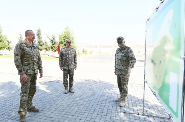 President Aliyev visits military camp of the Air Force of Ministry of Defense - UPDATED,PHOTOS