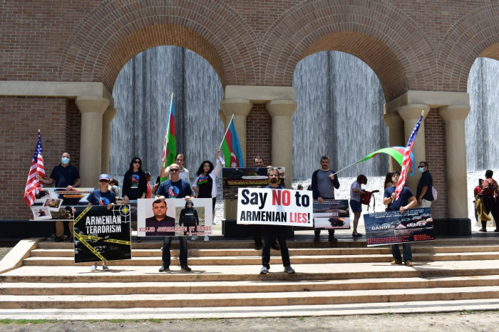 Protest held in Houston against Armenia