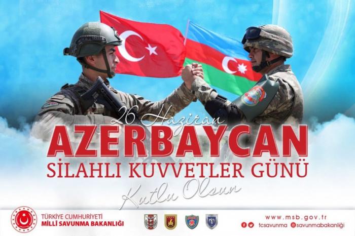 Türkiyə Milli Müdafiə Nazirliyi Azərbaycanı təbrik edib