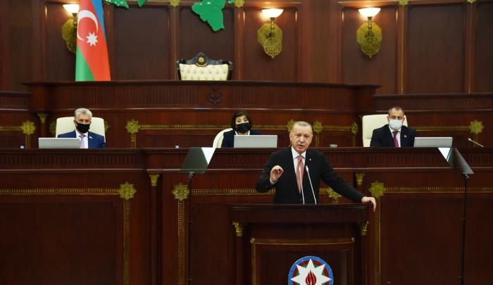 Turkish President addresses Azerbaijan