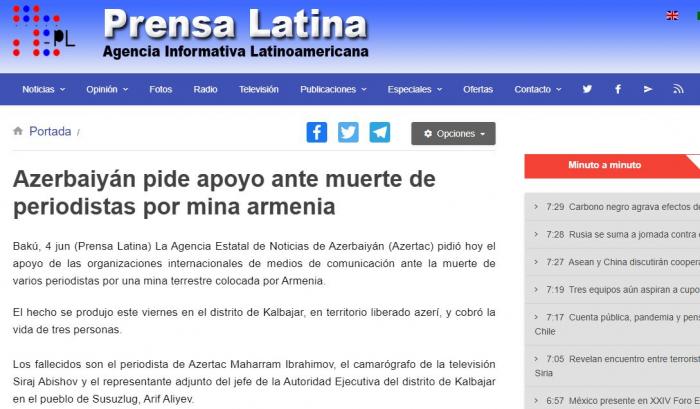 """""""Bu hadisə jurnalistlərə qarşı terror aktıdır"""" -  Kuba mətbuatı"""