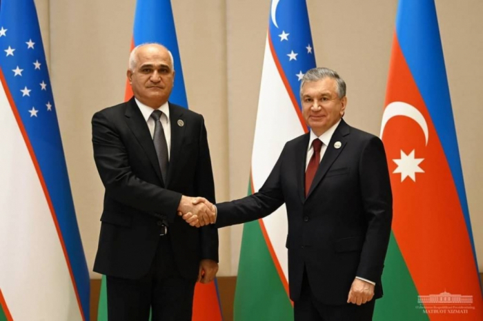 Özbəkistan Prezidenti Şahin Mustafayevi qəbul edib