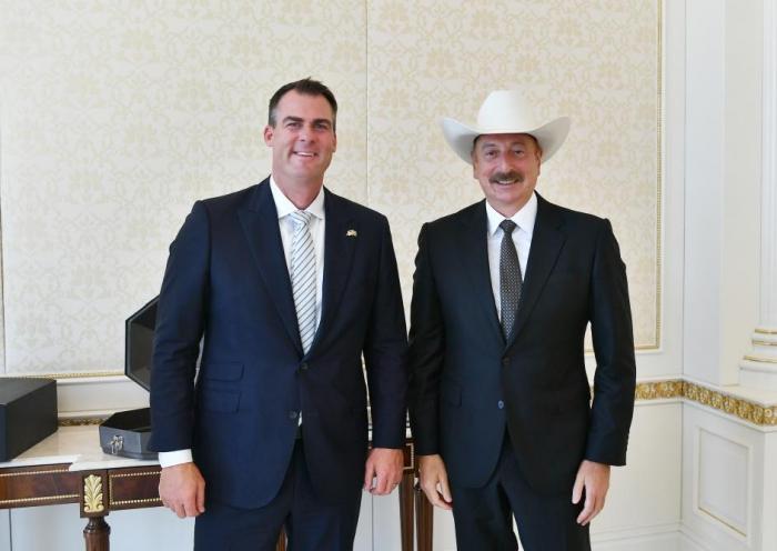 İlham Əliyev Oklahoma ştatının qubernatoru ilə görüşdü -   YENİLƏNİB - FOTO