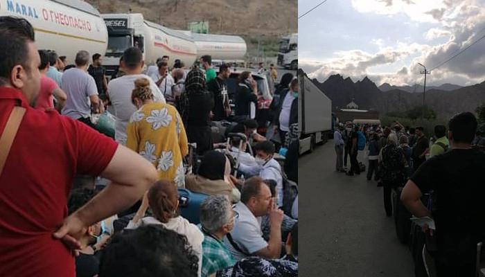 Vaksin və viski müəmması:   İranlılar Ermənistan gömrüyünə axışdılar- VİDEO