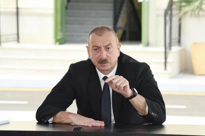Le président Aliyev a mis en garde les entreprises opérant illégalement au Karabagh