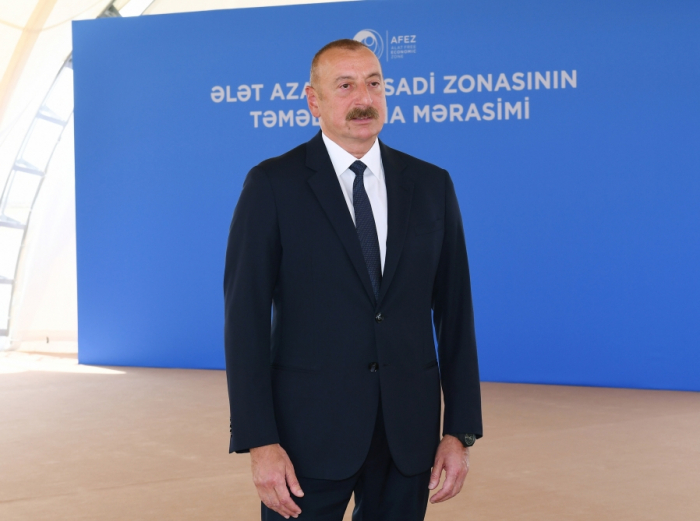 """""""Our victory in the war created new situation"""" - President Aliyev"""