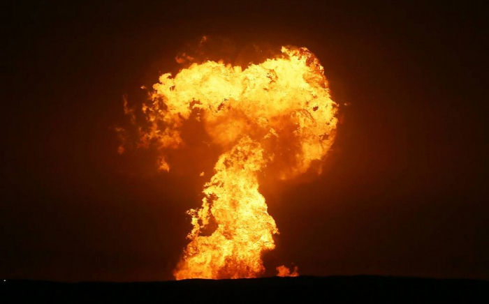 Burning mud volcano on rocky island of Azerbaijan gradually weakening, says SOCAR