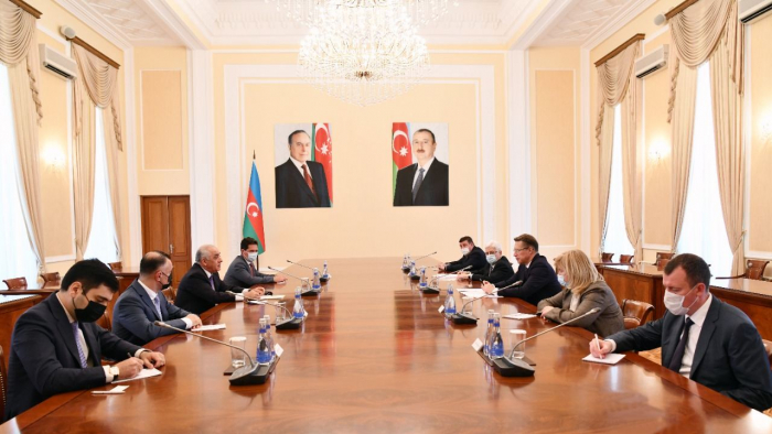 Azerbaijan's prime minister meets with Russian health minister
