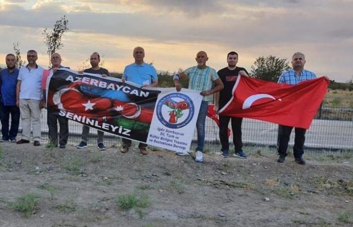 Residents of Turkish Igdir protest against environmental terror from Armenia
