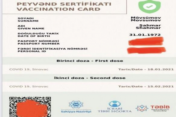 Azerbaijan: Vaccination certificate to be unlimited in terms of expiration