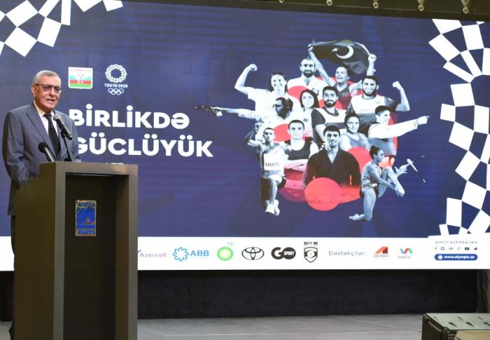 Presentación de los uniformes del equipo de Azerbaiyán para los Juegos Olímpicos de Tokio