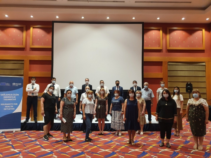 EU-WHO project trained members of infection prevention and control committees at healthcare facilities in Azerbaijan