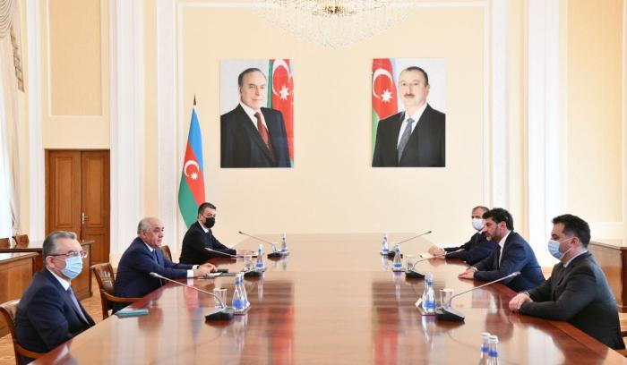 Azerbaijani prime minister receives mayor of Tbilisi