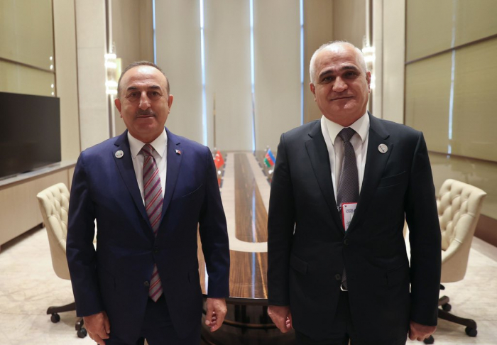 Aserbaidschanischer stellvertretender Premierminister trifft sich mit türkischem Außenminister
