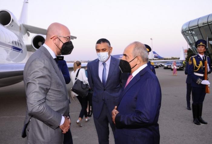 Presidente del Consejo Europeo llega a Azerbaiyán