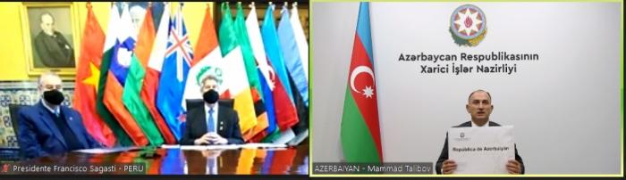 El presidente peruano recibe las cartas credenciales del embajador de Azerbaiyán