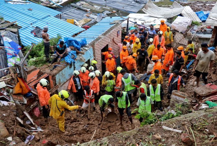 At least 23 killed in landslide, wall collapse in India monsoon rains