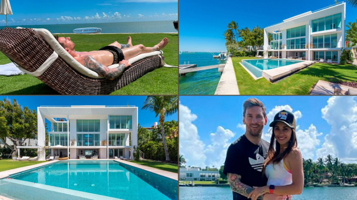 Las fotos de la espectacular casa que eligió Lionel Messi para disfrutar sus vacaciones familiares en Miami