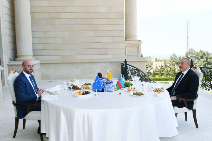 President Aliyev and EU's Charles Michel have joint working dinner