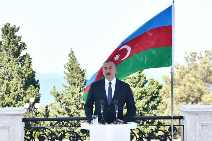 Präsident Ilham Aliyev:   Es ist Zeit, über Frieden nachzudenken und die Seite umzublättern
